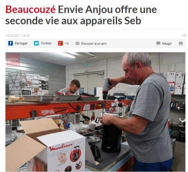 SEB développe l'économie circulaire avec ENVIE ANJOU