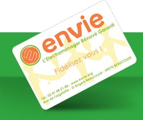 Carte de fidélité ENVIE